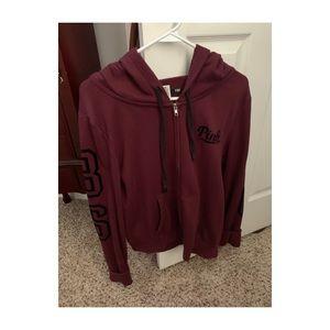 PINK full zip hoodie